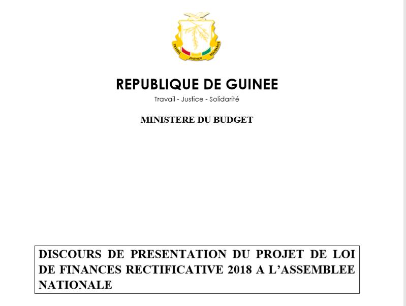 Discours De Presentation Du Projet De Loi De Finances Rectificative